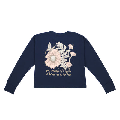 Bloom Long Sleeve Tee - Midnight Navy