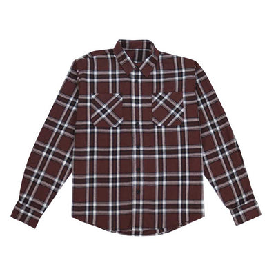 Button Down Flannel Shirt - Root Brown