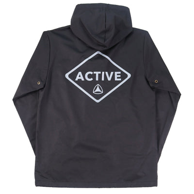 Caution Coaches Hooded Jacket - Black