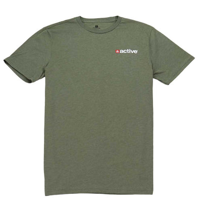 Chest Hit Lock Up T-Shirt - Military Green