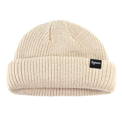 Shorty Double Roll Beanie - OS - Natural