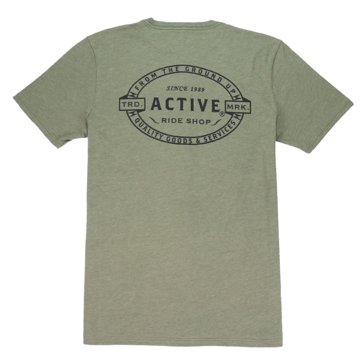 Crest T-Shirt - Military Heather
