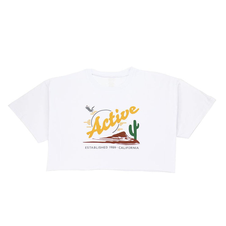 Cropped Tee - White Heather
