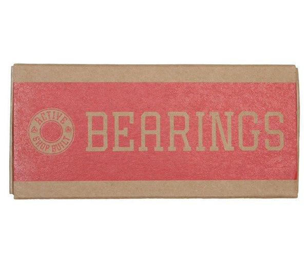 Active Ride Shop Abec 7 Bearings in red and brown packaging.