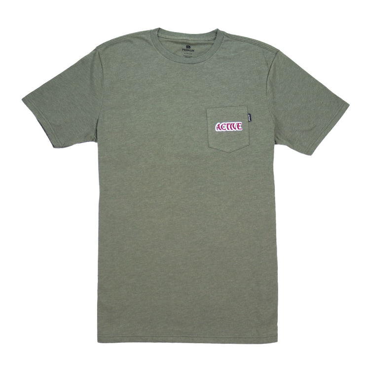 Long Weekend Pocket T-Shirt - Military Heather