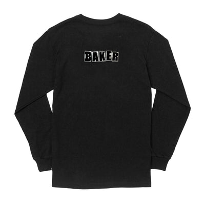Brand Logo Long Sleeve T-Shirt - Black