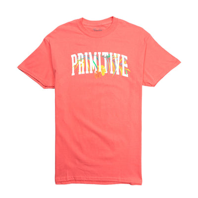 Palms Short Sleeve T-Shirt - Coral