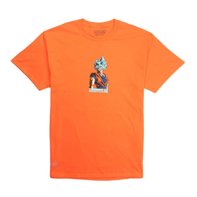 Shadow Goku Short Sleeve T-Shirt - Orange
