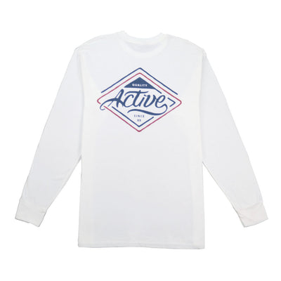 Park Ave Long Sleeve T-Shirt - White