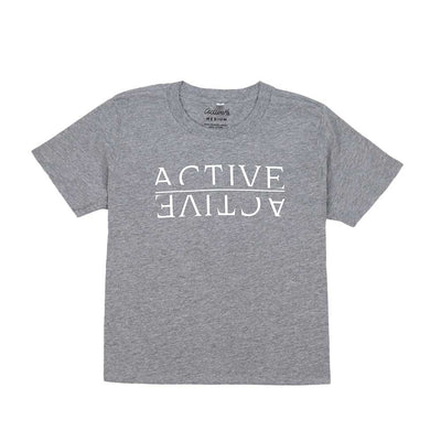 Womens Reflection Boxy T-Shirt - Heather Grey