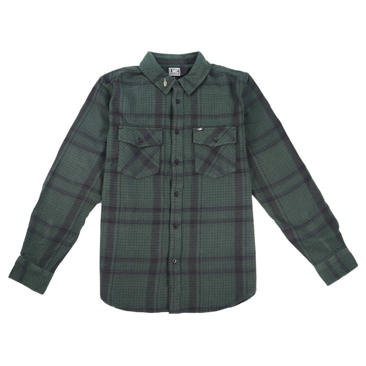 Rockwood Long Sleeve Woven - Black/Green