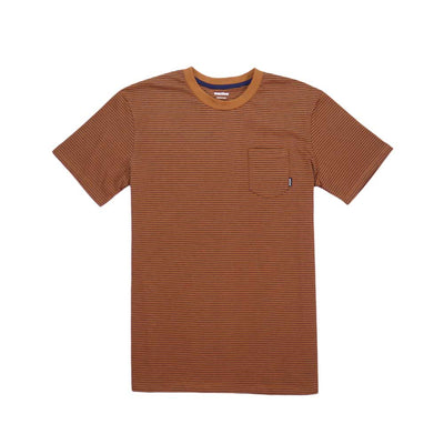 Ross Stripe Tee - Rust/Navy