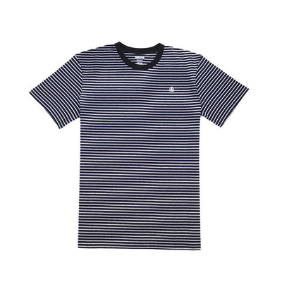 Ruled Stripe Tee - Black/White