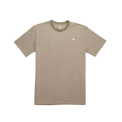 Ruled Stripe Tee - Khaki/White