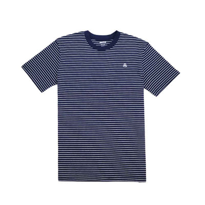 Ruled Stripe Tee - Navy/White