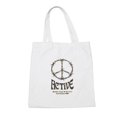 War V Peace Tote Bag - White