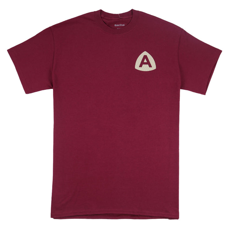 Upper Case T-Shirt Burgundy