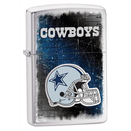 NFL Brushed Chrome Zippo Lighter - COWBOYS