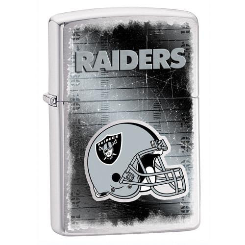 NFL Brushed Chrome Zippo Lighter - RAIDERS