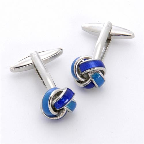 Dashing Cuff Links with Personalized Case  - BLUEKNOT