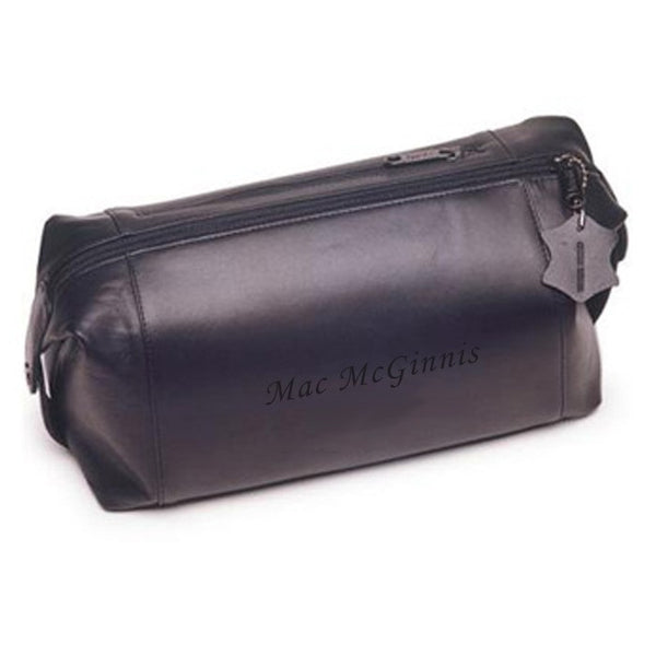 Personalized Leather Dopp Travel Bag
