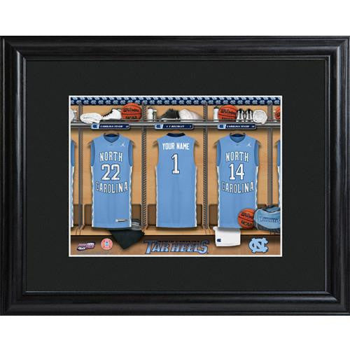 College Basketball Locker Room Print  - NCAROLINA