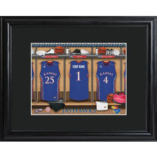 College Basketball Locker Room Print  - KANSAS