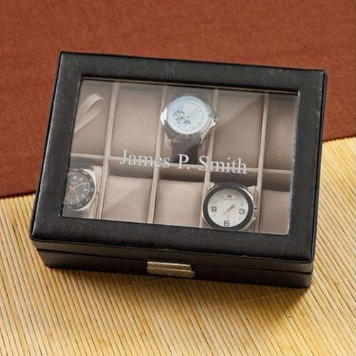Personalized Leather Watch Case
