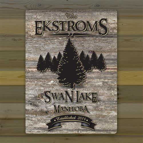Canvas Sign - Welcome to the Lake