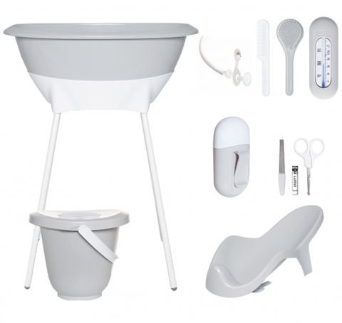 Light Grey Bath Set - Luma Light Grey