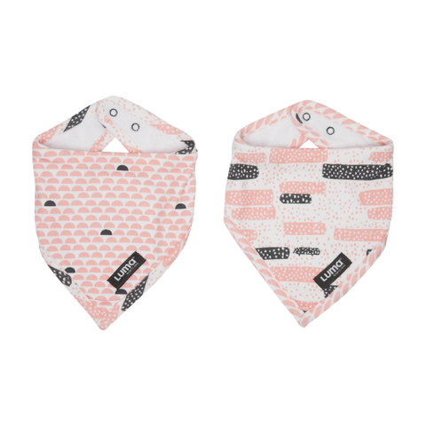 Luma Babycare Bandana Bib Set Peach Moon-2 Pack -