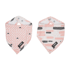 Luma Babycare Bandana Bib Set Peach Moon-2 Pack