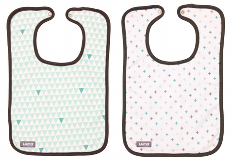 Luma Misty Mint Bib Set - Misty Mint Bibs