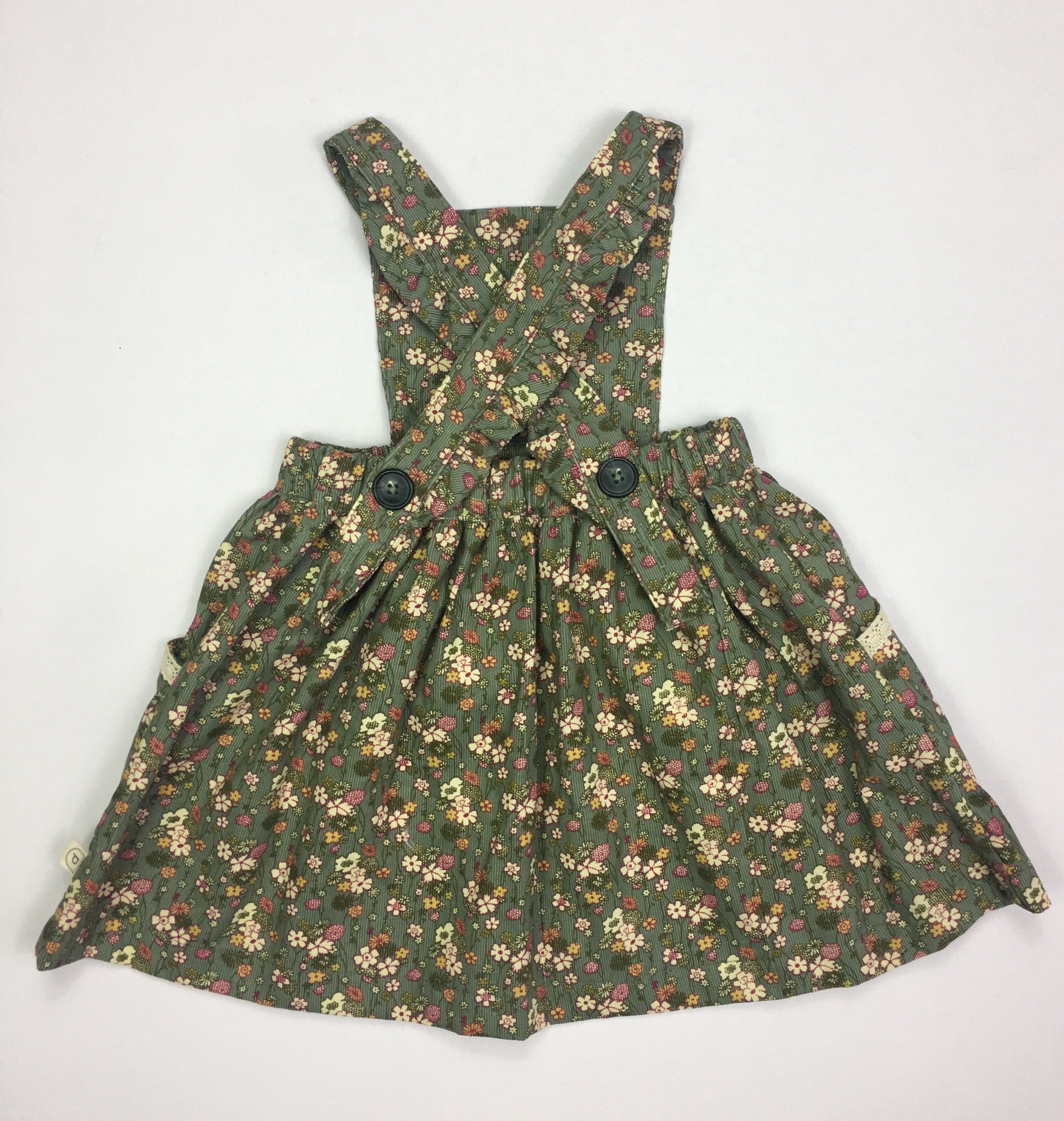 Poppy Pinafore  - AUTUMN OLIVE