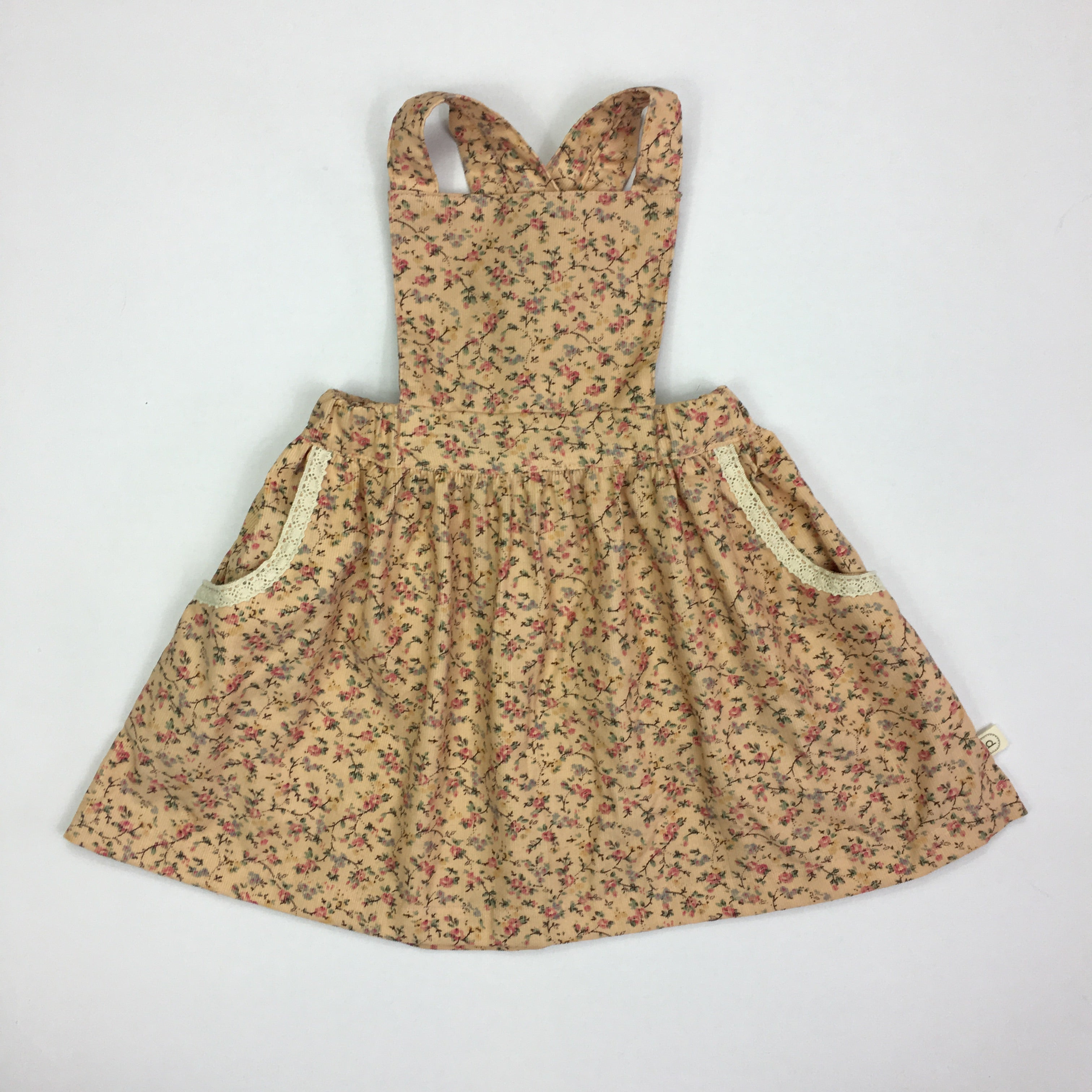 Poppy Pinafore  - PEACH BOUQUET