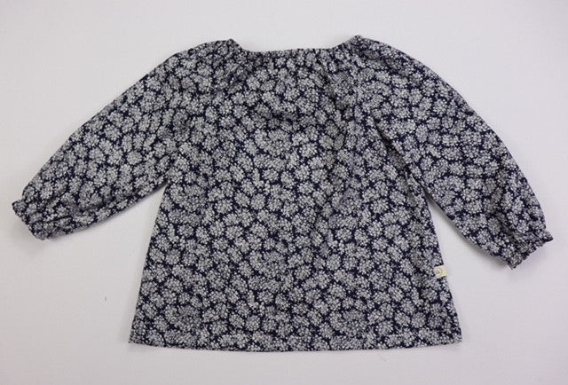 Poche Peasant Top/Long Sleeve - NAVY BLOSSOM