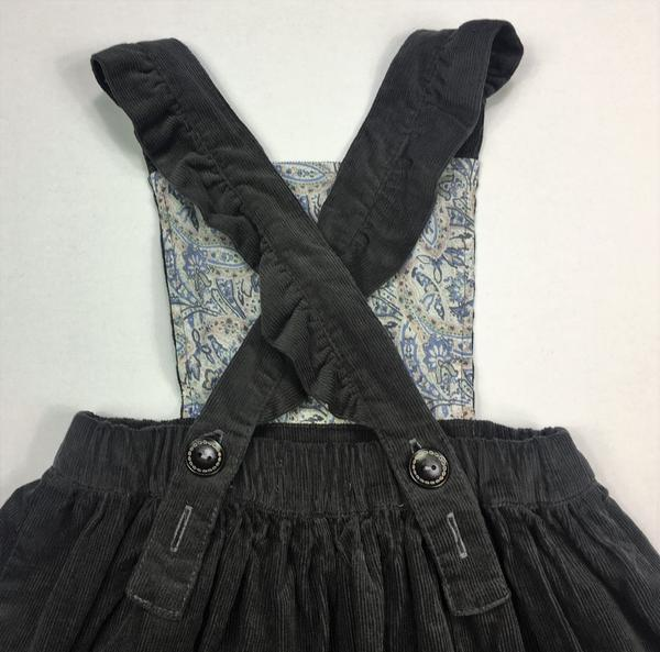 Poppy Pinafore GREY