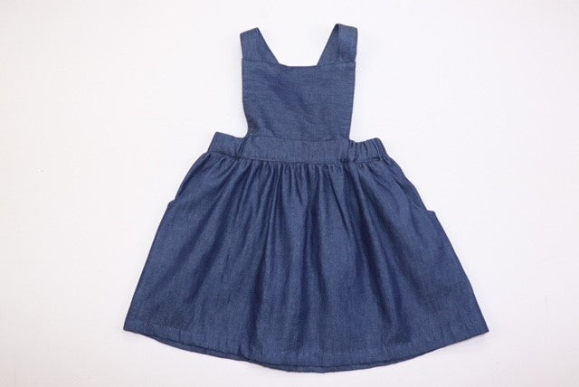 Poppy Pinafore DARK CHAMBRAY DENIM