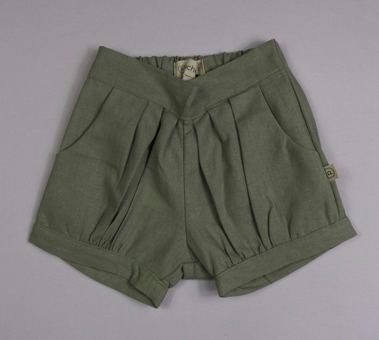 Poche Pleated Shorts - SAGE
