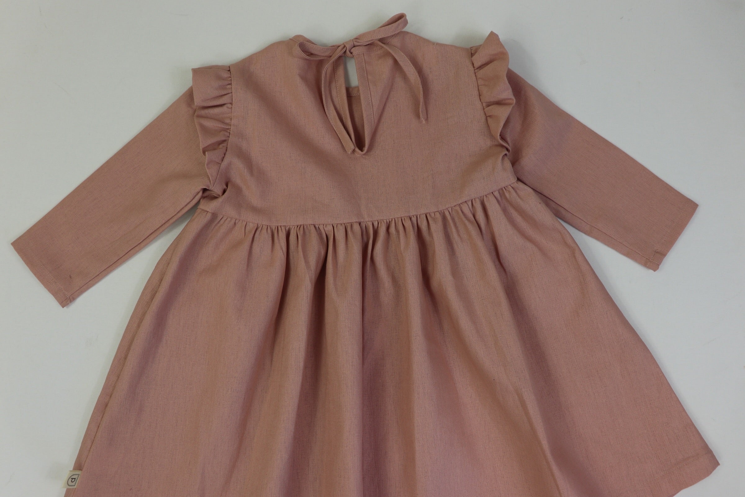 Marcella Tie Back Dress DUSTY PINK