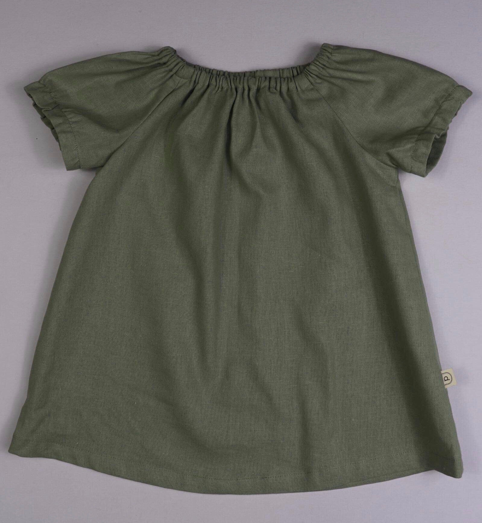 Poche Peasant Top/Short Sleeve - SAGE