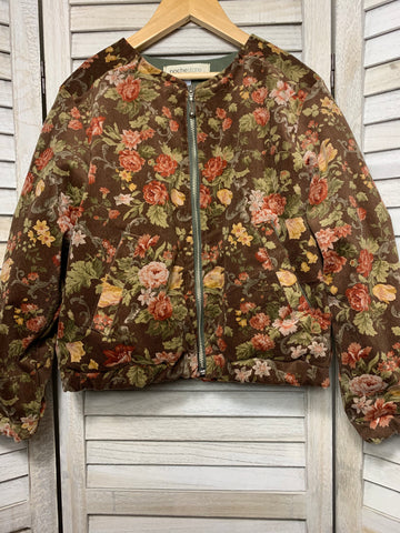 Betsy Bomber Jacket ~ Autumn Rose