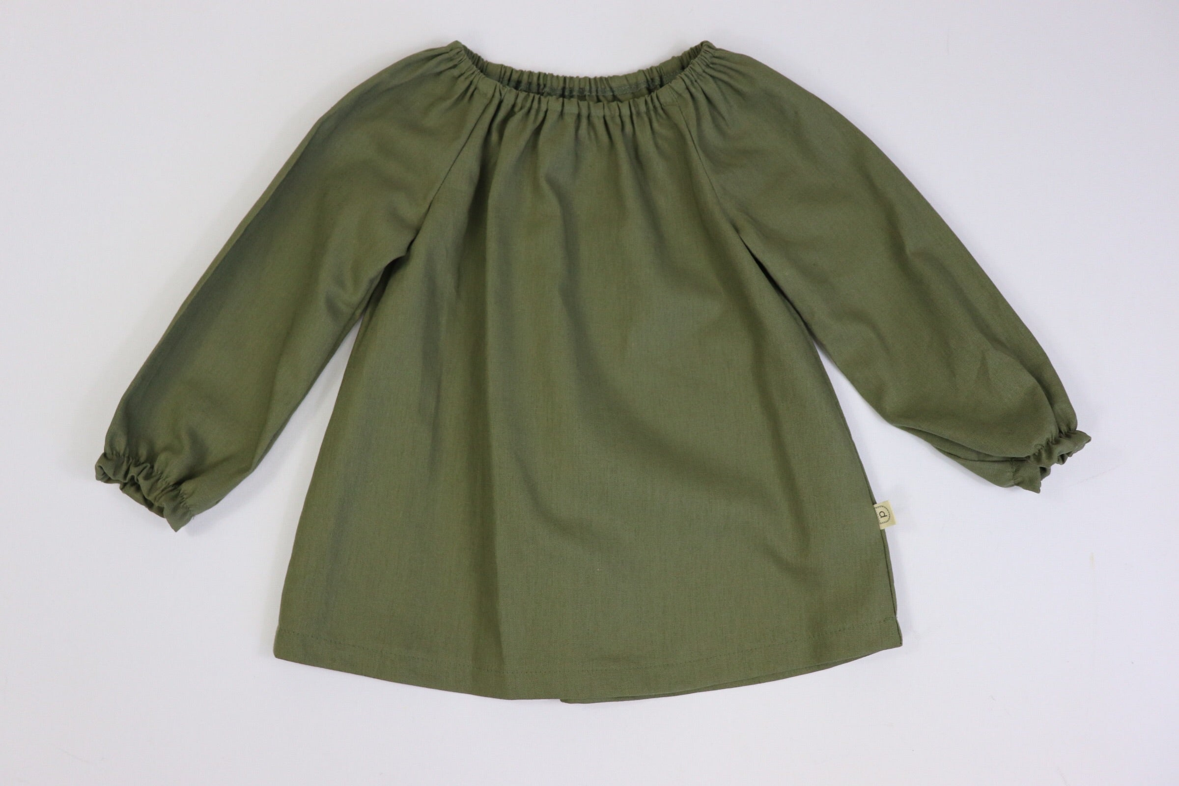 Poche Peasant Tunic Top/Long Sleeve OLIVE