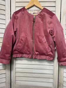 Betsy Bomber Jacket ~ Dusty Rose
