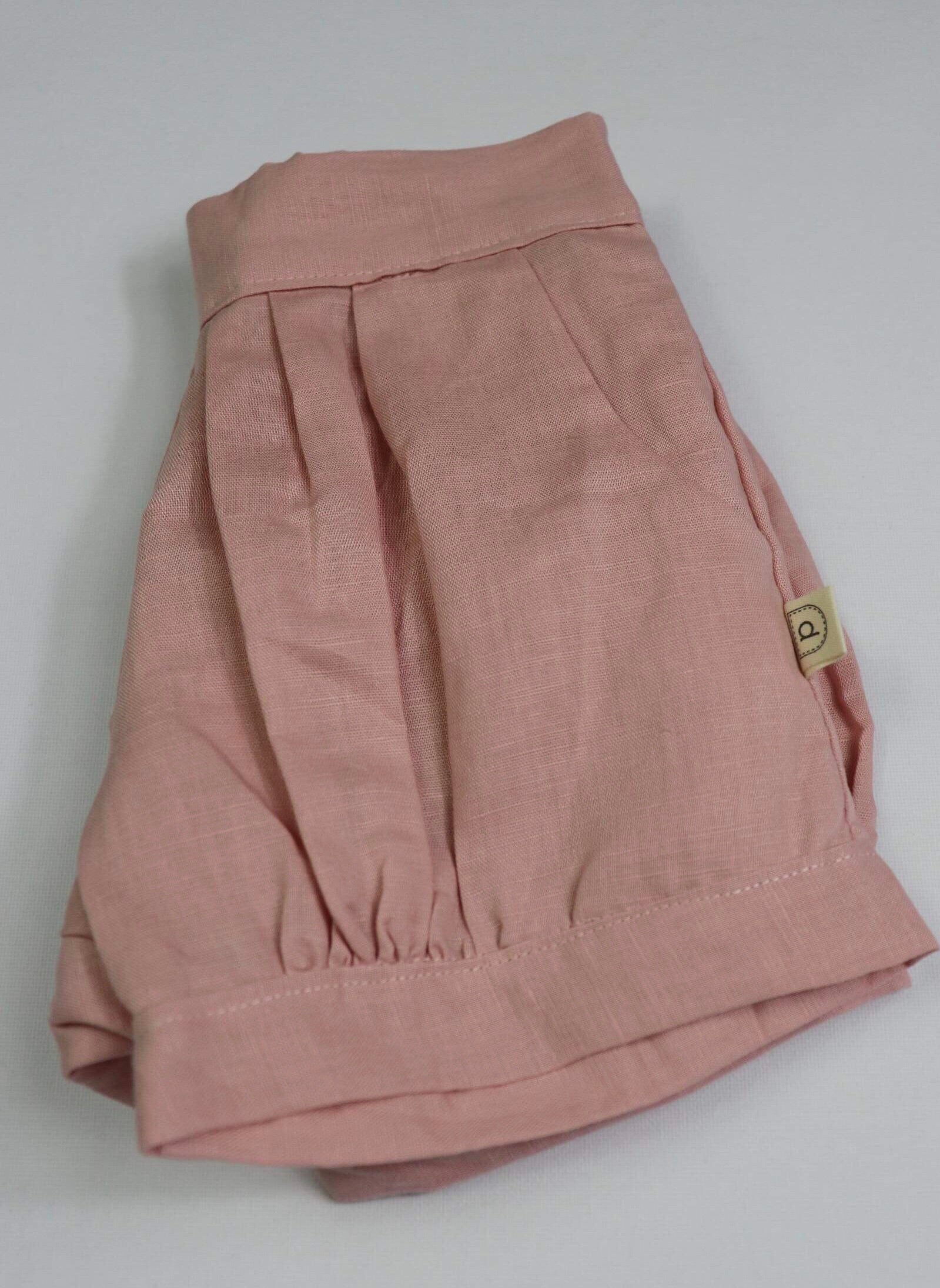 Poche Pleated Shorts - DUSTY PINK
