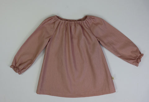 Poche Peasant Tunic Top/Long Sleeve DUSTY PINK