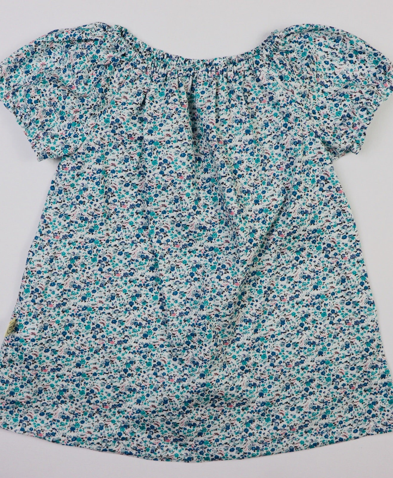 Poche Peasant Top/Short Sleeve - DITSY BLUE