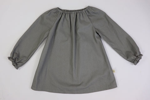 Peasant Tunic Top/Long Sleeve GREY