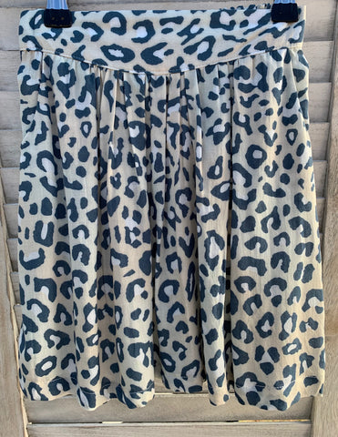 Florence Skirt - GREY LEOPARD