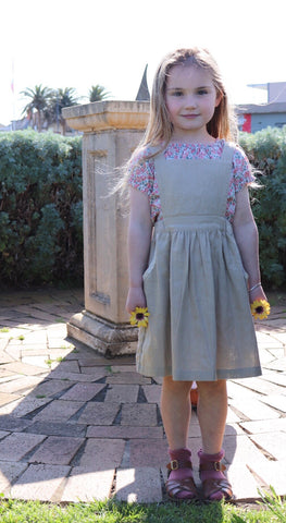 Poppy Pinafore WHEAT